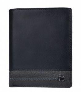 SEGALI Pánská kožená peněženka 951 320 2553 black/grey