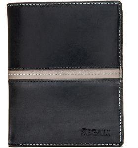 SEGALI Pánská kožená peněženka 720 137 2553 black/grey