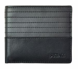 SEGALI Pánská kožená peněženka 7414 S black/grey