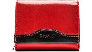 SEGALI Dámská kožená peněženka 61420 red/black