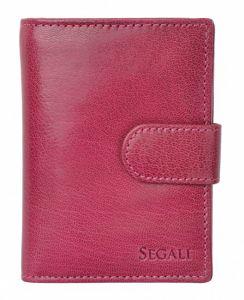 SEGALI Dámská kožená peněženka 7319 fuchsia