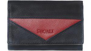 SEGALI Dámská kožená peněženka 7020 black/red