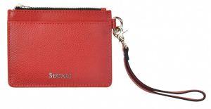 SEGALI Kožená mini peněženka-klíčenka 7290 A red