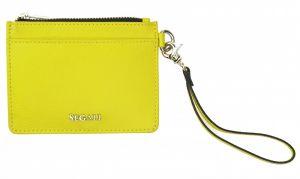 SEGALI Kožená mini peněženka-klíčenka 7290 A neon lime