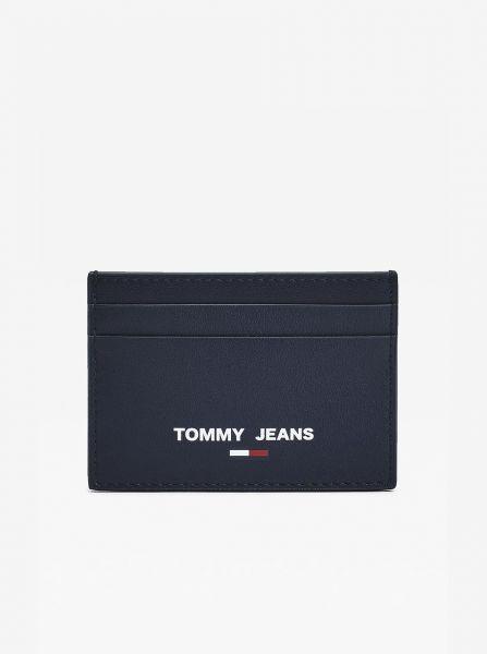 Tommy Hilfiger tmavě modré pánské kožená dokladovník