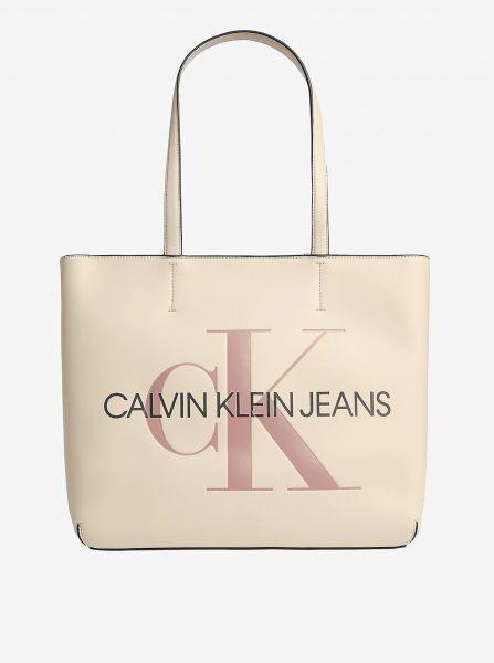 Calvin Klein krémový shopper