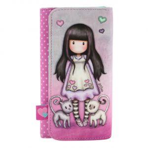 Santoro růžové peněženka Gorjuss Tall Tails