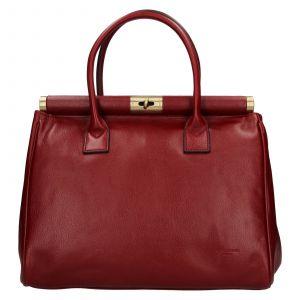 Dámská kožená kufříková kabelka Hexagona Zoe – vínová