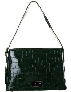 Tmavě zelená kabelka s imitací krokodýlí kůže monnari vel. ONE SIZE 153475-574080