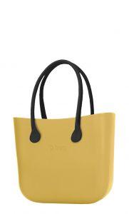 O bag kabelka Curry s černými dlouhými koženkovými držadly