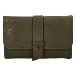 Luxusní dámská kabelka tmavě zelená – ItalY Brother zelená