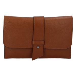 Luxusní dámská kabelka koňaková – ItalY Brother koňak