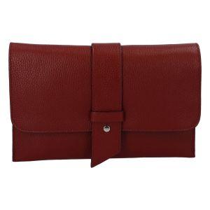 Luxusní dámská kabelka tmavě červená – ItalY Brother červená