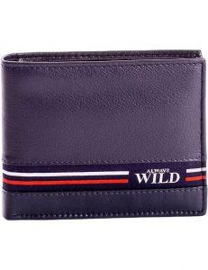Tmavě modrá pánská peněženka s proužky vel. ONE SIZE 116110-575766