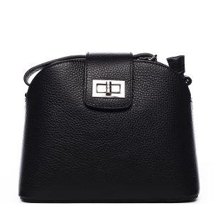 Dámská kožená crossbody kabelka černá – ItalY Brokylon černá