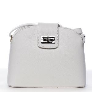 Dámská kožená crossbody kabelka bílá – ItalY Brokylon bílá