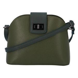 Dámská kožená crossbody kabelka tmavě zelená – ItalY Brokylon Two zelená