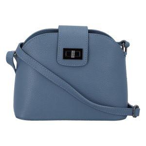 Dámská kožená crossbody kabelka bledě modrá – ItalY Brokylon modrá