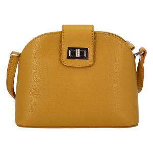 Dámská kožená crossbody kabelka žlutá – ItalY Brokylon žlutá
