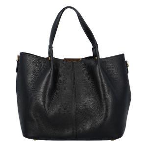 Dámská kožená kabelka černá – ItalY Werawont černá