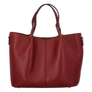 Dámská kožená kabelka tmavě červená – ItalY Werawont červená
