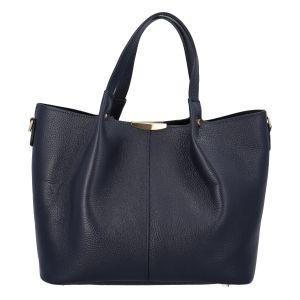 Dámská kožená kabelka tmavě modrá – ItalY Werawont tmavě modrá