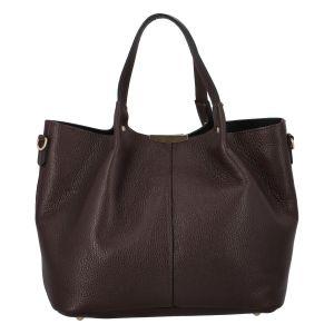 Dámská kožená kabelka čokoládově hnědá – ItalY Werawont hnědá