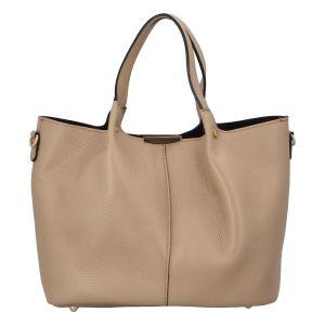 Dámská kožená kabelka tmavě béžová – ItalY Werawont béžová