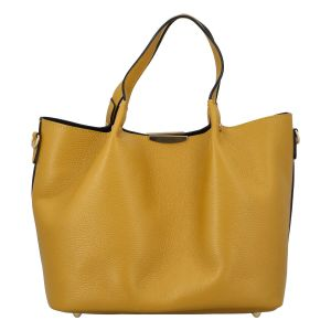 Dámská kožená kabelka žlutá – ItalY Werawont žlutá