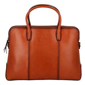 Luxusní kožená dámská business kabelka světle hnědá – Katana Floppy hnědá