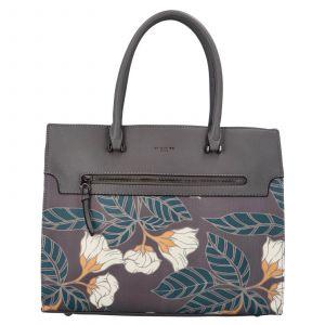 Dámská kabelka David Jones Flower – tmavě šedá