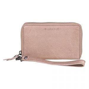 Dámská kožená peněženka Burkely Wristlet – růžová