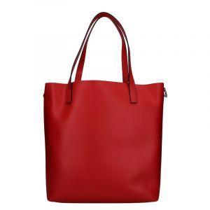 Dámská kožená kabelka Unidax Ninna – červená