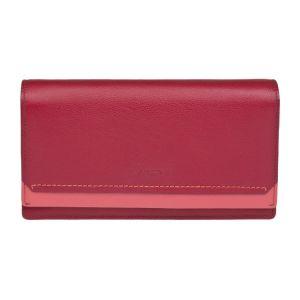 Dámská kožená peněženka Lagen Nikol – červená
