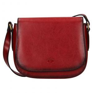 Kožená dámská crosbody kabelka Katana Klára – červená