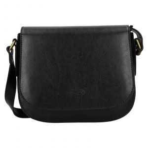 Kožená dámská crosbody kabelka Katana Klára – černá