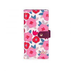 Vuch růžová květovaná peněženka Millie