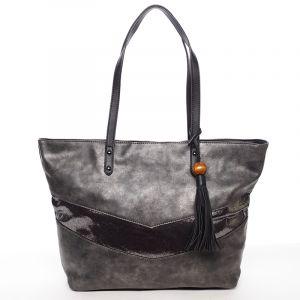 Velká módní trendy kabelka přes rameno černá – David Jones Chetona černá