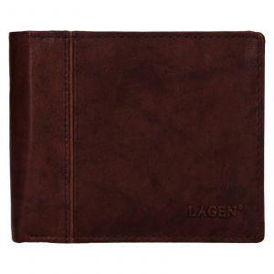 Pánská kožená peněženka Lagen Levi – hnědá