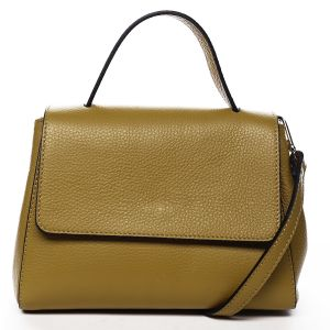 Dámská kožená kabelka do ruky tmavě žlutá – ItalY Fatismy žlutá
