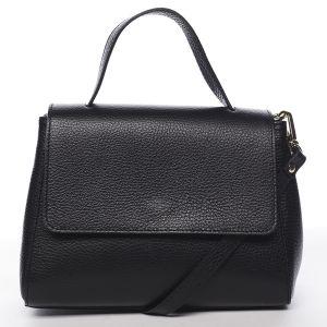 Dámská kožená kabelka do ruky černá – ItalY Fatismy černá