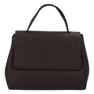 Dámská kožená kabelka do ruky tmavě hnědá – ItalY Fatismy hnědá