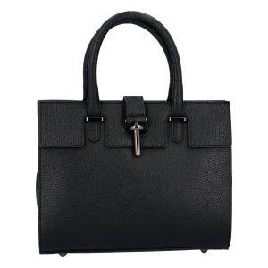 Luxusní dámská kabelka černá – ItalY Spolicy černá