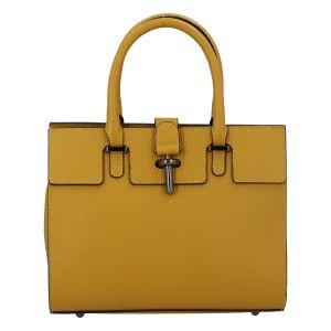 Luxusní dámská kabelka tmavě žlutá – ItalY Spolicy žlutá