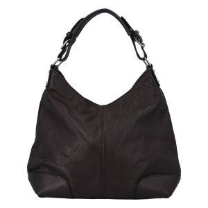 Dámská kožená kabelka tmavě hnědá – ItalY Inpelle coffee