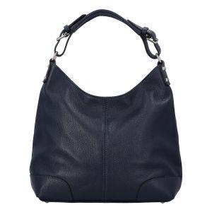 Dámská kožená kabelka tmavě modrá – ItalY Inpelle tmavě modrá