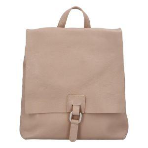 Dámský kožený batůžek kabelka růžový – ItalY Francesco růžová