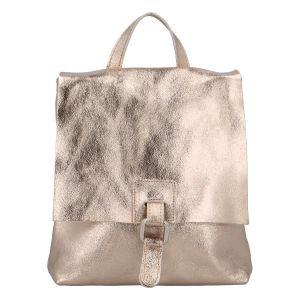 Dámský kožený batůžek kabelka zlatý – ItalY Francesco zlatá