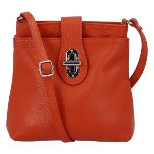 Dámská kožená crossbody kabelka oranžová – ItalY Laira oranžová