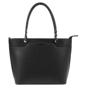 Dámská kožená kabelka Vera Pelle Inela – černá